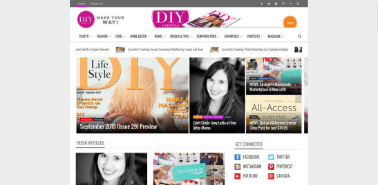 DIY Lifestyle Magazine Website